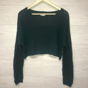 Silence + Noise Trendy Cropped Knit Sweater